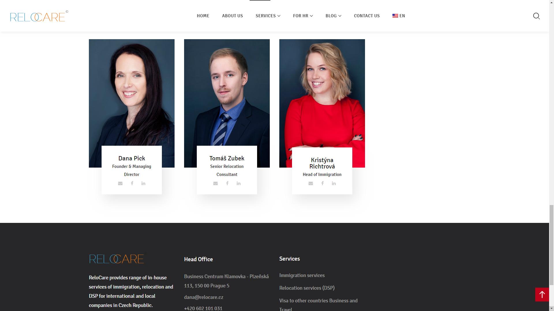 Relocare web site